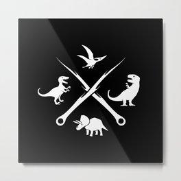 Hipster Dinosaurs Logo Metal Print