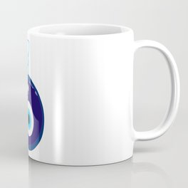 Blue Evil Eye Bead Coffee Mug