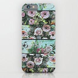 Romantic Rococo wood panel iPhone Case