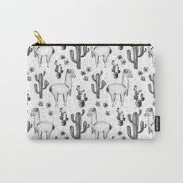 Llama Llamarama + Cactus 2 Carry-All Pouch