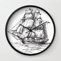 marine Wall Clocks featuring marine by ismailburc