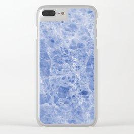 Juliette blue marble Clear iPhone Case