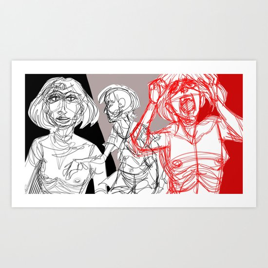 Two Extremes Art Print