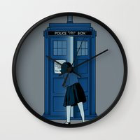 narnia Wall Clocks featuring A Magical Box [Doctor Who, Narnia] by Ruwah