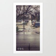 #backlanesofwpg four Art Print
