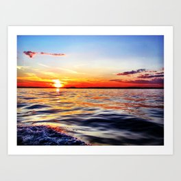 Ocean Sunset Art Print