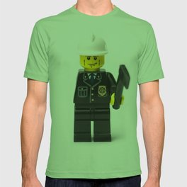 One armed Fireman Minifig T-shirt