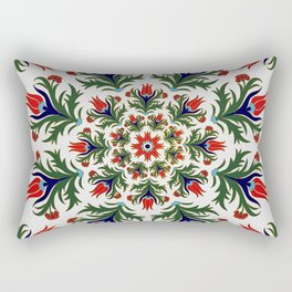 Turkish tulip - Ottoman tile 1 Rectangular Pillow