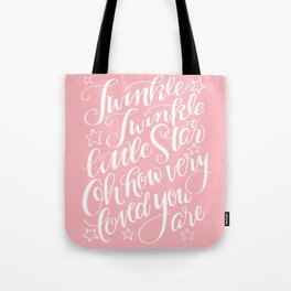 Twinkle Twinkle Little Star Pink Tote Bag