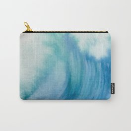 Watercolor Wave Carry-All Pouch