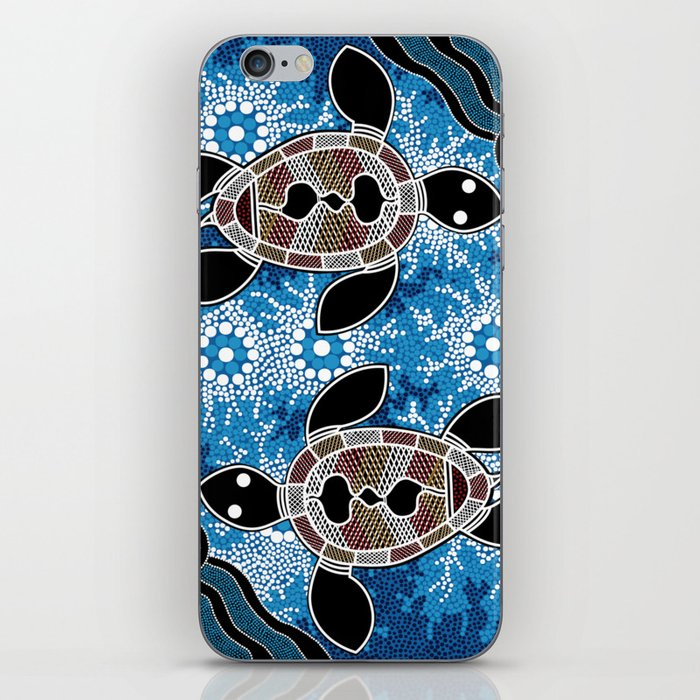 Sea Turtles - Authentic Aboriginal Art iPhone Skin