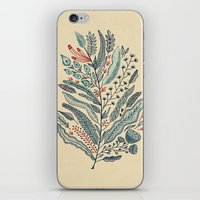 leaf iPhone & iPod Skins featuring Turning Over A New Leaf by Monica Gifford