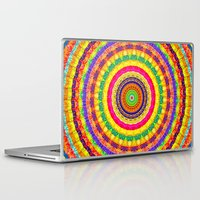 batik Laptop & iPad Skins featuring Batik Bullseye by Peter Gross