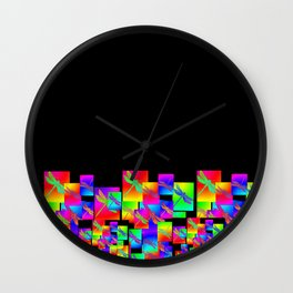 Rainbow Patterns Wall Clock