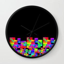 Rainbow Patterns Wall Clock
