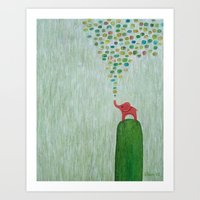 baby elephant Art Prints featuring Baby Elephant by Davs