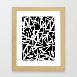 stamp triangle Framed Art Print