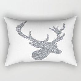 Silver Deer Rectangular Pillow
