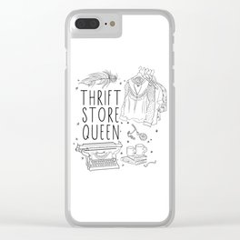 Thrift Store Queen Clear iPhone Case