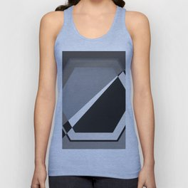London - hexagon Unisex Tank Top