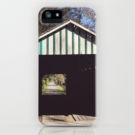 Seeing through a covered bridge iPhone Case
