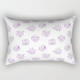 Pilates poses pattern Rectangular Pillow