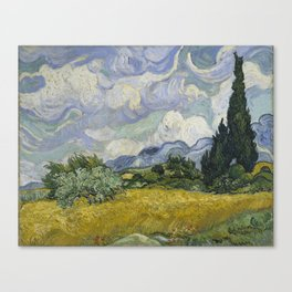 Wheatfield with Cypresses Canvas Print