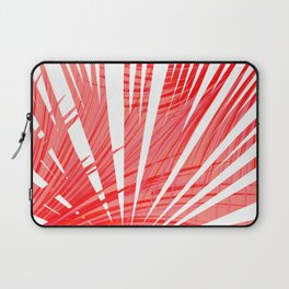 Tropical Flashy Fan Palm Leaves Abstract Design Laptop Sleeve