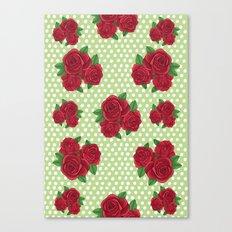 Roses and Polka Dots Canvas Print