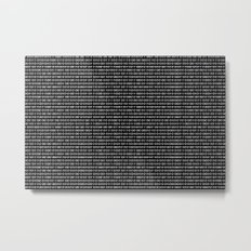 The Binary Code DOS version Metal Print