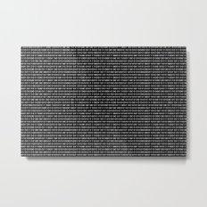 The Binary Code DOS version Metal Print