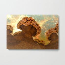 Broccoli Planet in Fall Metal Print