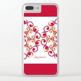 Grace Mandala x 2 - Red White Clear iPhone Case