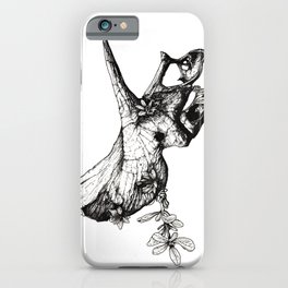 Jurassic Bloom - The Horned. iPhone Case