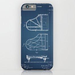 Grand Piano Patent - Blueprint iPhone Case