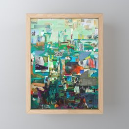 Green Framed Mini Art Print