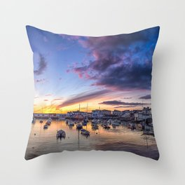 Portrush Harbour,Ireland,Northern Ireland Throw Pillow