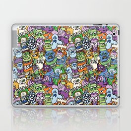 Halloween stars get crazy and hungry in a spooky pattern design Laptop & iPad Skin