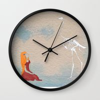 ostrich Wall Clocks featuring Ostrich by Leah Gonzales