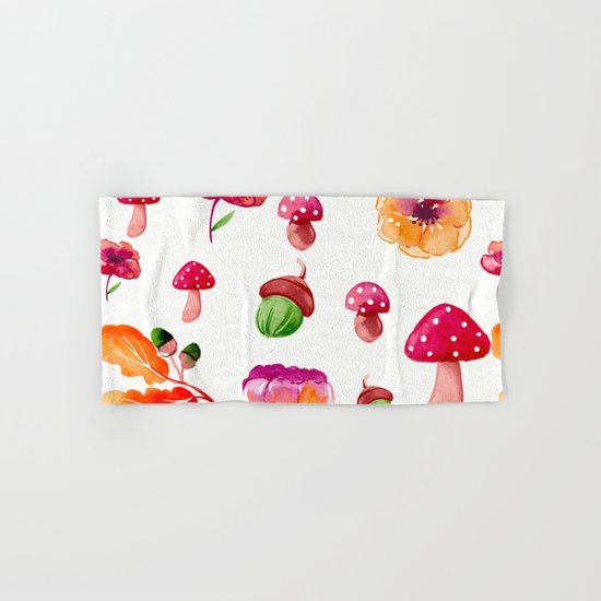 Botanical garden - watercolor Hand & Bath Towel