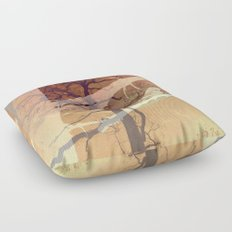 Evening song Floor Pillow