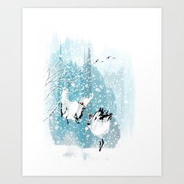 Dancing in the snow Art Print