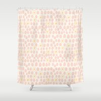 eggs Shower Curtains featuring Eggs by Catherine Gibbard