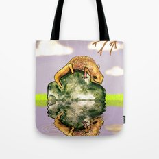 Reflect upon yourself on a rainy day  Tote Bag