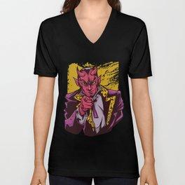 Lucifer Demon Devil Evil Angel Underworld Satan Unisex V-Neck