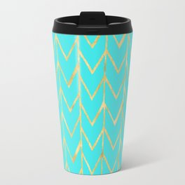 Festive Chevron Pattern Travel Mug