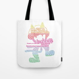 MonsterCat Typography Tote Bag