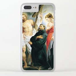 Saint Augustine between Christ and the Virgin by Peter Paul Rubens Clear iPhone Case