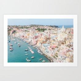 Italy Procida Pastels Art Print