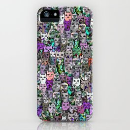 Gemstone Cats UltraViolet Green Palatte iPhone Case
